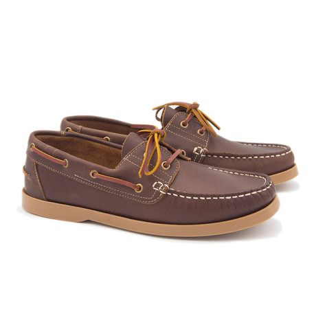 Leather Boat Shoe // Maroon (Euro: 40)