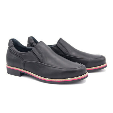 Dress Shoe + Multicolor Sole // Black (Euro: 40)
