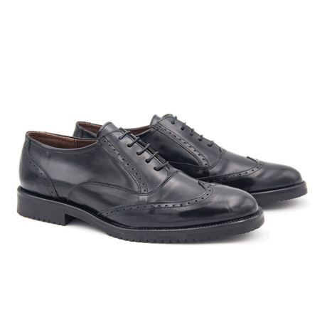 Leather Oxford // Black (Euro: 40)