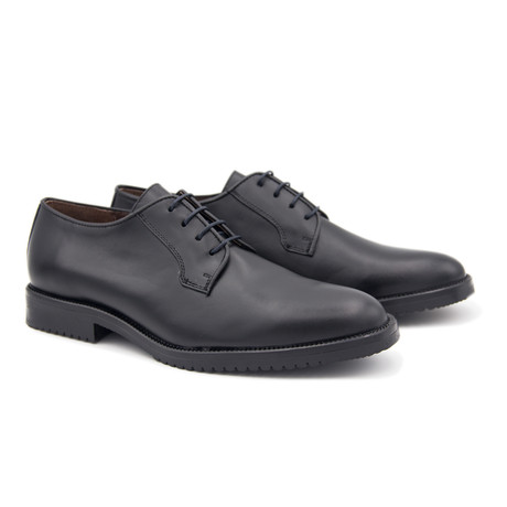 Liso Leather Blucher // Black (Euro: 40)