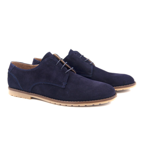 Leather Blucher // Blue (Euro: 40)