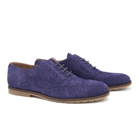 Leather Oxford // Midnight Blue (Euro: 40)
