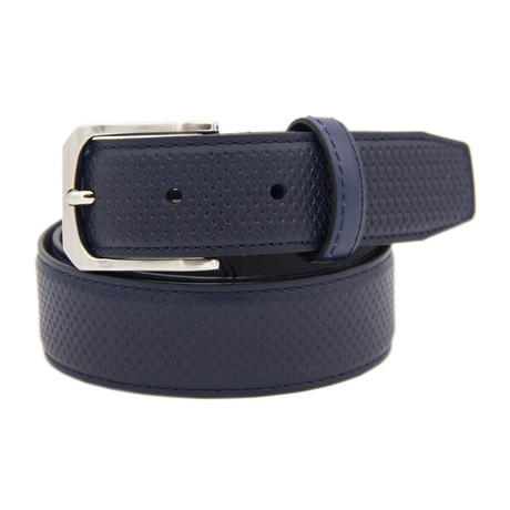 "Leather Belt // Midnight Blue (39"")"