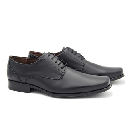 Leather Blucher // Black (Euro: 40)