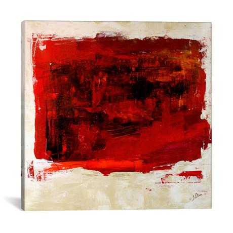 """Red Study // Julian Spencer (12""""W x 12""""H x 0.75""""D)"""