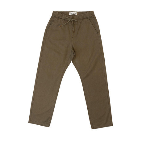 Acadia Hemp + Organic Cotton Blend Pant // Olive (XS)
