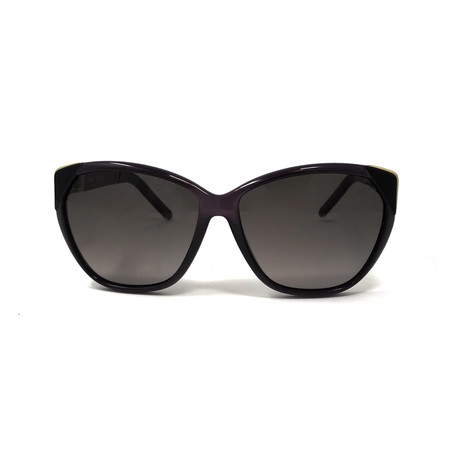 Chloe // Cat Eye Sunglasses // Smoke + Gray Gradient