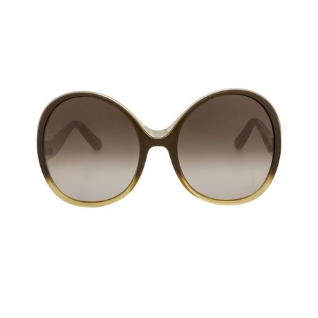 Chloe // Women's Oversize Sunglasses // Gradient Brown + Yellow