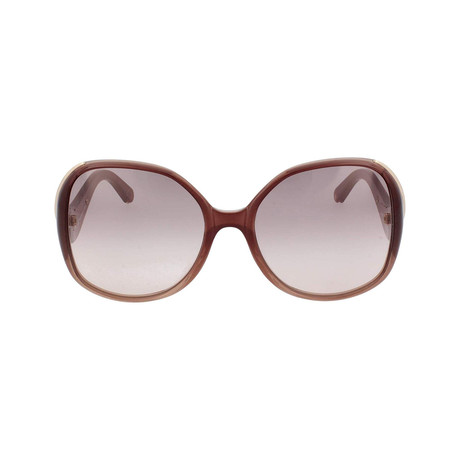 Chloe // Square Sunglasses // Brown + Turtledove Gradient + Gray Gradient