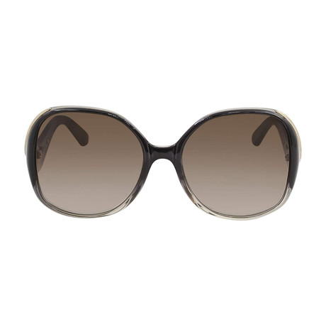 Chloe // Square Sunglasses // Gradient Gray + Gray