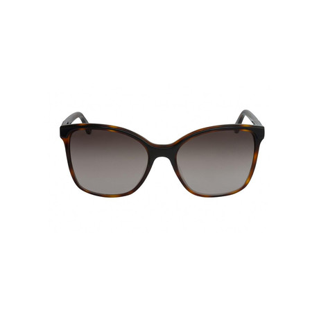 Chloe // Women's Classic Round Sunglasses // Brown Havana + Gray
