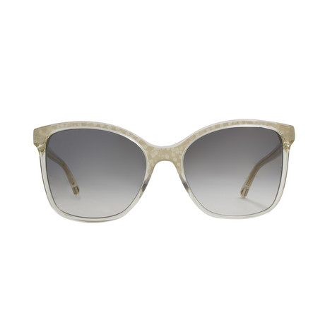 Chloe // Classic Square Sunglasses // Pearl Champagne + Brown Mirrored