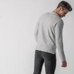 Season II Crewneck Long Sleeve T-shirt // White + Black (L)