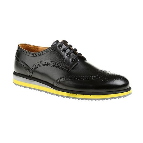 Rafael Dress Shoes // Black + Yellow (Euro: 39)