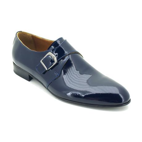 Rulande Dress Shoes // Dark Blue Patent (Euro: 39)