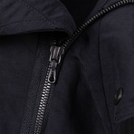 Julius Nilos // Fishtail Hooded Parka Coat // Black (S)