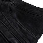 Balmain Paris // Cotton Denim Biker Jeans Pants // Black (28WX32L)