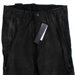 Julius 7 // Lamb Nubuck Leather Slim Fit Jeans Pants // Black (M)