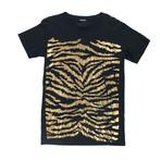 Balmain Paris // Cotton Short Sleeve Crewneck T-Shirt // Black + Gold (XS)