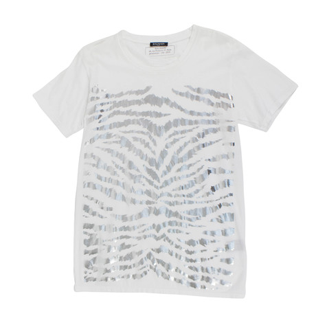 Balmain Paris // Cotton Short Sleeve Embellished T-Shirt // White (XS)