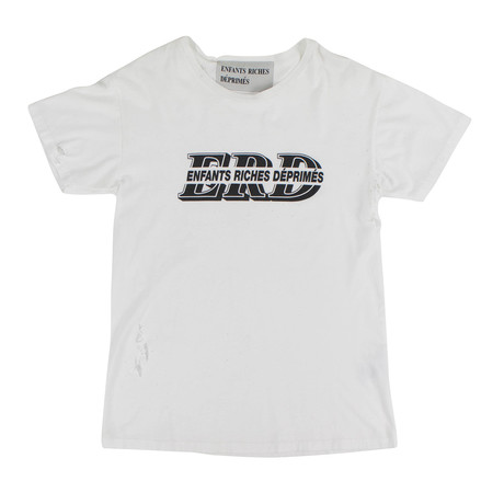 Enfants Riches Deprimes // ALT Logo Distressed T-Shirt // White (XS)
