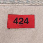 424 // Dirty Money Denim Trucker Jacket // Brown (L)
