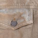 424 // Dirty Money Denim Trucker Jacket // Brown (M)