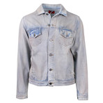 424 // Mechanic Wash Denim Trucker Jacket // Blue (S)