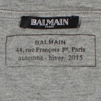 Balmain Paris // Short Sleeve Printed Tees // Pack of 3 // Gray + Black + White (XL)