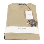 Balmain Paris // Short Sleeve Printed Tees // Pack of 3 // Beige + Black + White (XL)