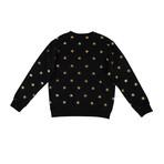 Palm Angels // All Stars Crew Neck Sweater // Black (XS)
