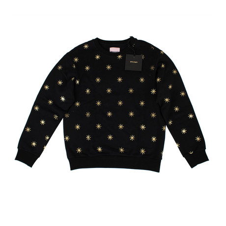 Palm Angels // All Stars Crew Neck Sweater // Black (XS)
