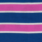 Palm Angels // Unisex Striped Scarf // Fuchsia + Multi