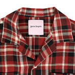 Palm Angels // Check Button Down Pajama Shirt // Red (Euro: 40)