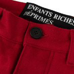 Enfants Riches Deprimes // Melton Wool Utility Trousers // Red (30WX32L)