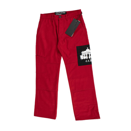 Enfants Riches Deprimes // Melton Wool Utility Trousers // Red (28WX32L)