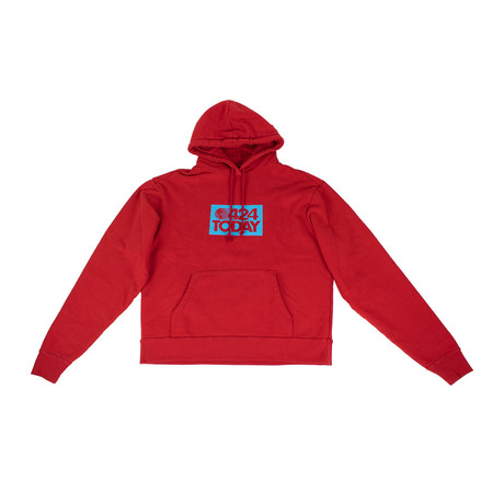 424 // 424 Today Cotton Hoodie Sweatshirt // Red (XS)