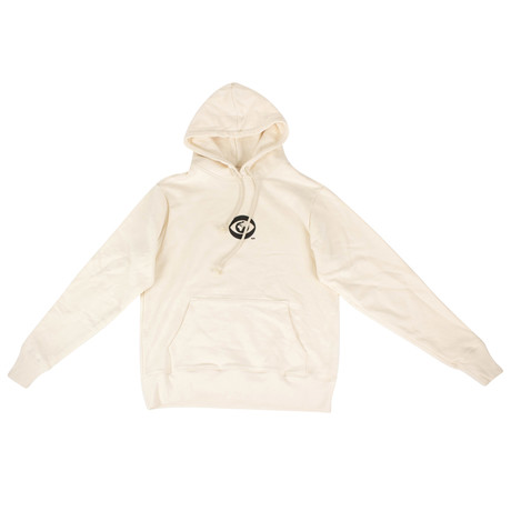 424 // Big Brother Cotton Hoodie Sweatshirt // Cream (XS)