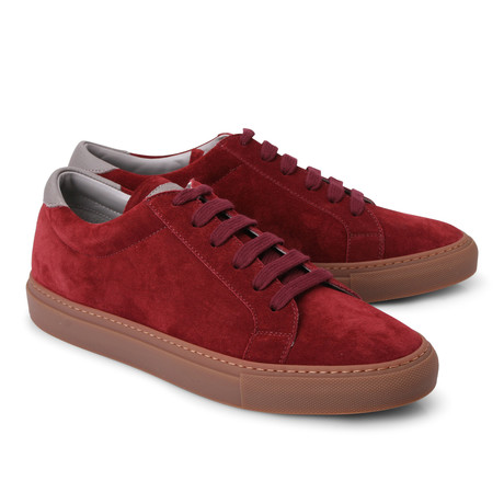 Declan Fashion Sneaker // Burgundy (Euro: 39)