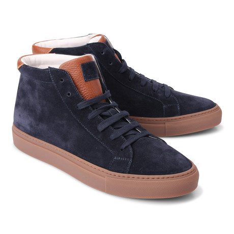 Milan High Top Fashion Sneaker // Blue (Euro: 39)