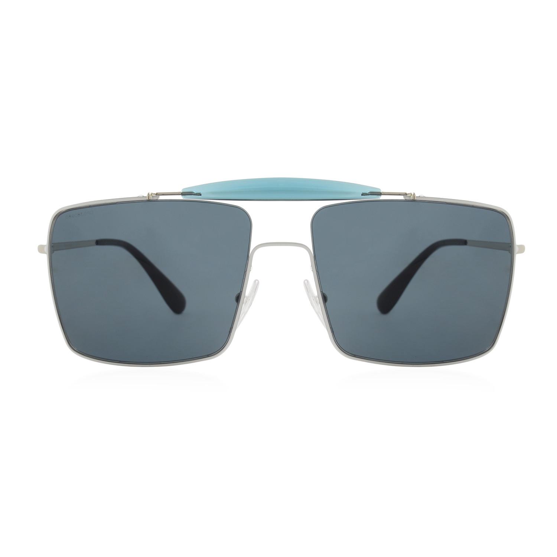 88b694dc0c official prada mens square aviator sunglasses silver dark grey 52221 8e0f6