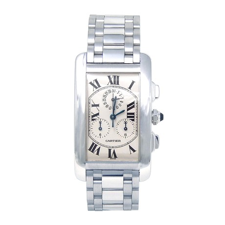 Cartier Tank Americaine Chronograph Quartz // W260334 // Pre-Owned