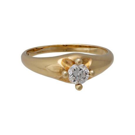 Vintage Bvlgari 18k Yellow Gold Diamond Ring // Ring Size: 5.5