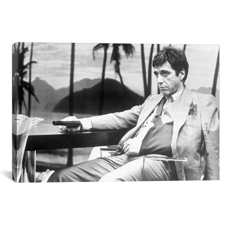 "Al Pacino As Tony Montana In Scarface (18""W x 26""H x 0.75""D)"