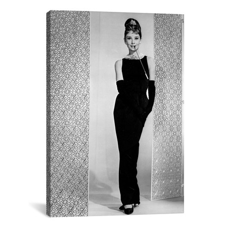 "Audrey Hepburn // Little Black Dress // Breakfast At Tiffany's (18""W x 26""H x 0.75""D)"