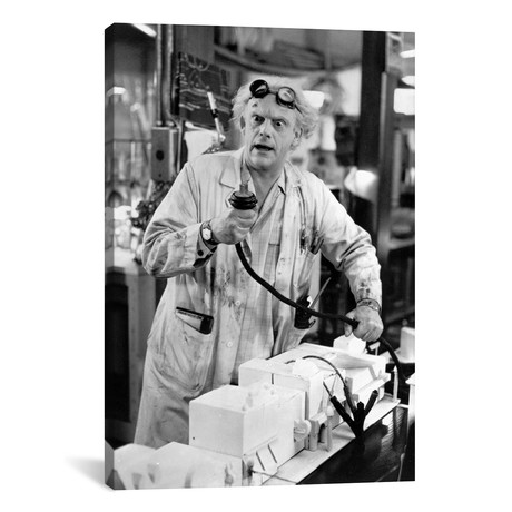 "Christopher Lloyd Wearing A Lab Coat (26""W x 18""H x 0.75""D)"