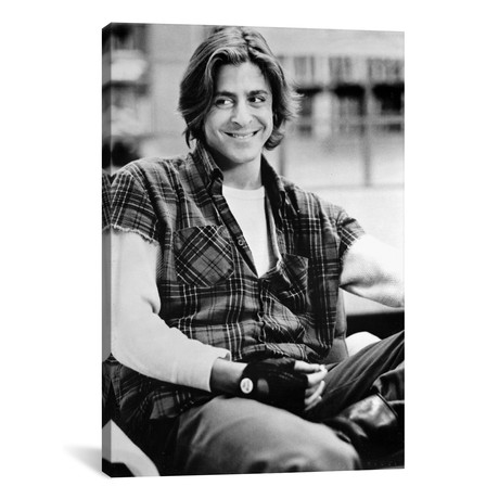 "Film Still Of Judd Nelson Wearing A Plaid Shirt (26""W x 18""H x 0.75""D)"