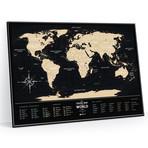 World Travel Map // Black + Gold