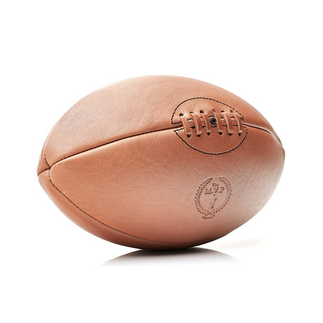 Deluxe Leather Rugby Ball // Tan