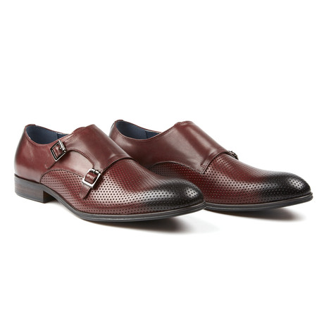 The Abbeyhill Monk Strap Dress Formal // Bordeaux (US: 7.5)